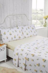 RoseBud Brushed Cotton Sheet Set