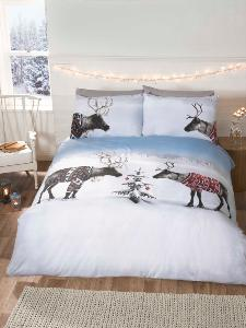 Reindeer with Jumpers Duvet Cover Set