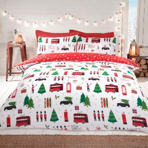 Christmas Collage Duvet Set