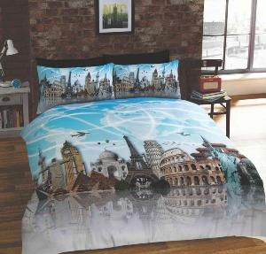 All Around The World Duvet Cover Set
