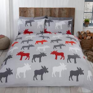 Moose Brushed Cotton Duvet Set